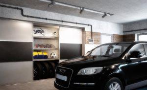 Vstavaná skriňa v garáži