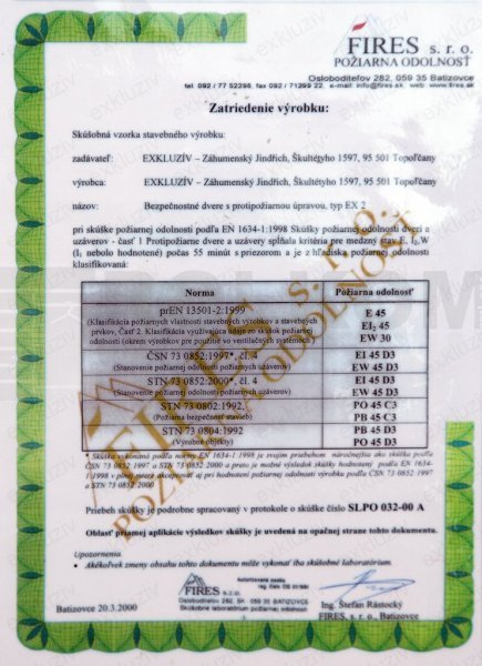 certifikát exkluziv